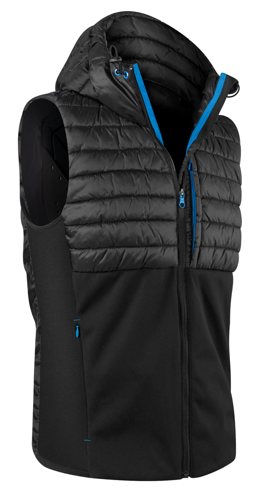 Thermovest Snow Men with Hoody front