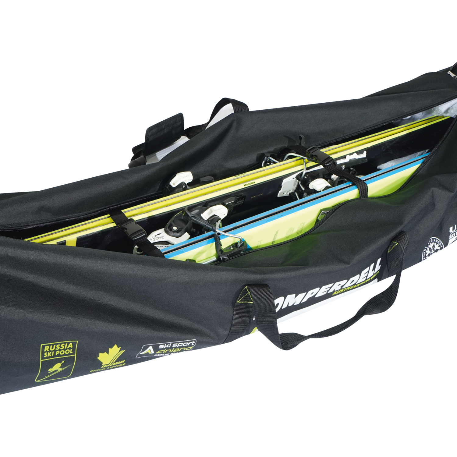 Nationalteam Expandable Pole and Ski Bag with Wheels